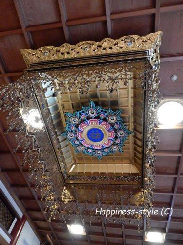 誓願寺本堂内の天蓋