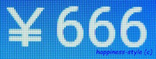 666円のPC上の表示