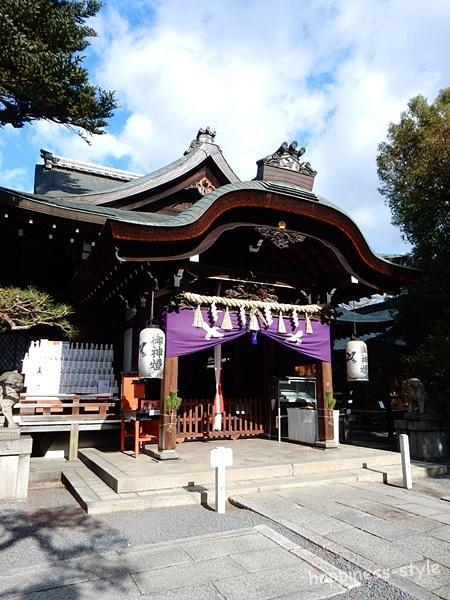 京都熊野神社の拝殿