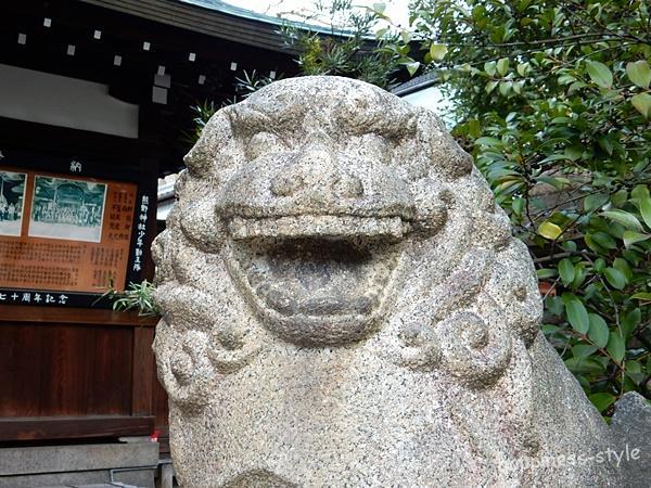 京都熊野神社の狛犬の阿